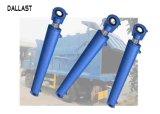 피스톤 중간 치기 두 배 작동을%s 가진 GS 쓰레기 트럭 액압 실린더