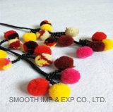 Мода Multi-Colors хлопка экранирующая оплетка Яркие шары оформление Tassel Pompom ремня безопасности