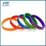 Vários encantos aptos da letra da corrediça dos braceletes DIY do Wristband do silicone da cor