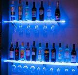 Sostenedor de acrílico del soporte de visualización del vino, claro, grada 3, para 9 botellas, visualización de acrílico del vino, caja de presentación de acrílico del vino