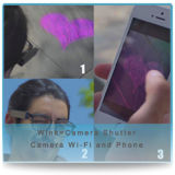 """Erfinderische Hightech- Produkte """"Wink=Camera Blendenverschluss-"""" Kamera Wi-FI und Telefon-Anschluss-eindeutige Form-Bewegung"""