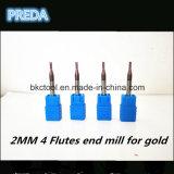 Ferramentas de Preda HRC60 2mm para a máquina do CNC do metal