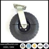 8X250-4 인치 산업 까만 고무 압축 공기를 넣은 바퀴 피마자