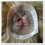 Toupee superiore dei capelli umani 5X5 con la mono unità di elaborazione del merletto rotonda
