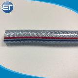 Цветная ПВХ Армированный оплеткой чистый шланг трубки