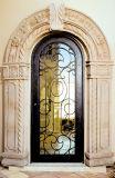 Singolo portello di entrata Mano-Forgiato del ferro artistico con vetro