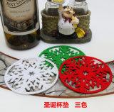 クリスマスのコースターの雪のコースターのフェルトのコースターによっては装飾が家へ帰る