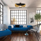 Het moderne Binnenlandse Licht van het Plafond van de Vlinder van het Hotel Decoratieve Zwarte