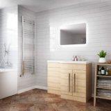 Décor Mural LED miroir rond Salle de bains