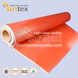 L'isolement Veste Tissu enduit de silicone pour les rideaux de couvercle d'isolation thermique en fibre de verre
