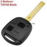 Pour Lexus 2 Bouton Remote Shell clé Toy48 lame courte
