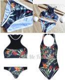 Swimwear напечатанный флорой спорта высокого качества Monokini