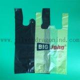 Kundenspezifische Gestaltungsarbeit gedruckte HDPE Shirt-Einkaufstasche
