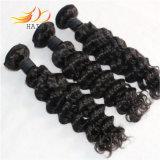 человеческие волосы 100% волны индийских волос девственницы 7A глубокие