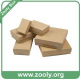 A caixa de cartão/Kraft liso rígido encaixota/a caixa presente de papel do cartão (ZC001)
