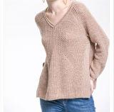 Alta qualidade feita malha viscosa da camisola 2017 da garganta da forma nova V das mulheres
