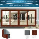 二重ガラスおよび装飾が付いているアルミニウムバルコニーのドア