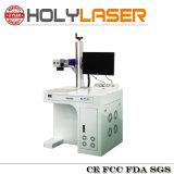 Machine d'inscription de laser de fibre diplôméee par CE, machine de gravure de laser