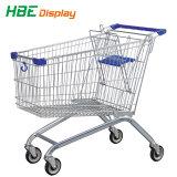 4개의 피마자 Carring 쇼핑 슈퍼마켓 금속 트롤리