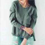 Senhoras EUA Viscose Estilo moda pulôver suéter grosso, OEM