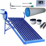 Chauffe-eau à énergie solaire de tube électronique compact inférieur/à haute pression/non-pressurisé de collecteur de système de chauffage d'eau chaude d'acier inoxydable