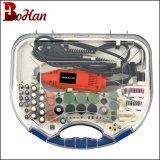Sistema de herramienta giratorio de la herramienta eléctrica Dremel mini sistema con los accesorios 210PCS