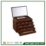 Casella di memoria di legno su ordinazione dei monili di stile di lusso della vernice