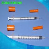 Sterile Insulin-Wegwerfspritzen mit örtlich festgelegten Nadeln