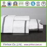 300TC 100% coton blanc roi feuille plate de la fabrication