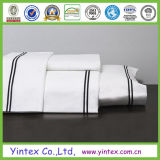 300tc白の100%年の綿王平らなシートの製造