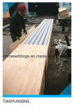 Blue Caps를 가진 316L Seamless Stainless Steel Pipes