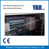 Precio de fábrica cortadora Rewinder del rodillo de la caja registradora de dos capas de China