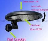 56 luces solares al aire libre accionadas solares solares de la cerca de las luces montadas en la pared de las lámparas del LED para el jardín