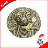 Chapéus flexíveis Misturar-Coloridos do chapéu da palha de papel com Bowknot