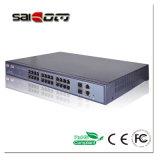 Saicom (SCSWG2-1124PF) 1000Mbps 15.4W 24 PoE schließt +2GX Ethernet-Netzwerk POE-Schalter an den Port an