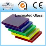 박판으로 만들어진 건축 유리에 의하여 색을 칠하는 박판으로 만들어진 유리 색깔에 의하여 입히는 박판으로 만들어진 유리