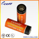 3,0V tamanho 2500mAh17505 Cr Bateria de Lítio cilíndrica para GPS Tracker