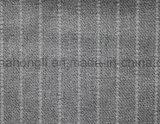 Tecido com T / R Striped, 87% Poliéster 10% Rayon 3% Spandex