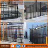 L'acier galvanisé recouvert de poudre de clôtures de sécurité en acier tubulaire