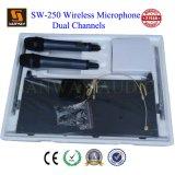 Dos canal inalámbrico UHF micrófono de solapa (SW-250)