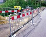 Barrera temporal usada movible del control de muchedumbre de la fuente de la fábrica/barrera del camino del tráfico