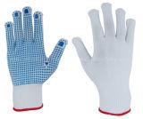 Gant en nylon avec la paume pointillée par PVC (S5105)