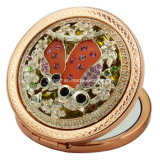 Antique Gold Heart Shape Cheap Compact Mirror