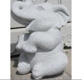 손 새겨진 자연적인 돌 화강암 코끼리 동상