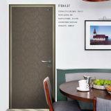 Trappe en bois de chambre à coucher bon marché, trappe d'oscillation en aluminium, trappe en bois de Vneer