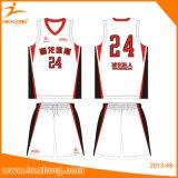 Healong 최고 디자인 승화 농구 Jerseys