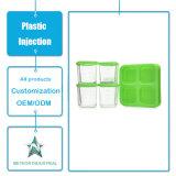 De aangepaste Plastic het Bewaren van het Vaatwerk van de Producten van de Vorm van de Injectie Transparante Container van het Voedsel van de Doos Plastic