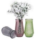 Vaas van het Glas van de manier de Stijl In reliëf gemaakte voor de Decoratie van het Festival