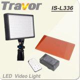 Travor Nuevo vídeo de LED de luz con mando a distancia por infrarrojos (ES-L336)