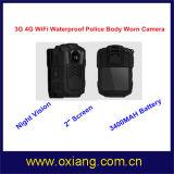 Macchina fotografica portabile del corpo della polizia di WiFi 4G costruita nel GPS GPRS Bluetooth